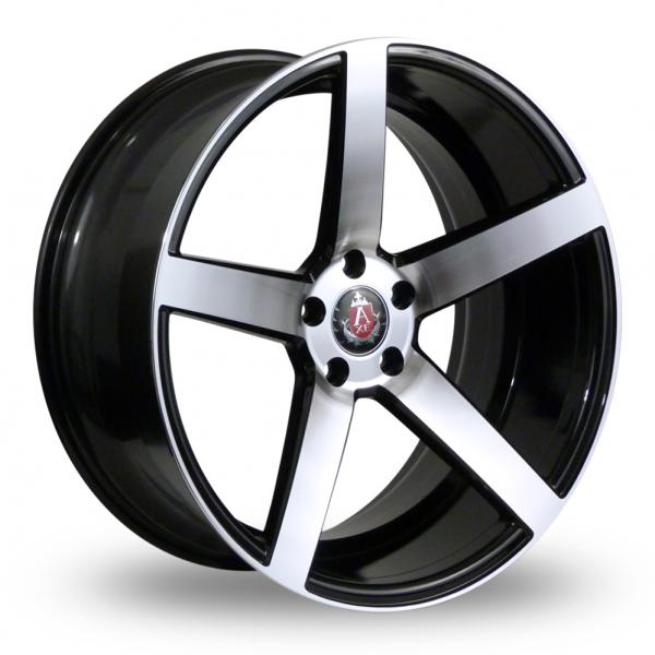 Zoom Axe EX18_5x114_Wider_Rear Black_Polished Alloys