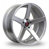 Image for Axe EX18_5x114_Wider_Rear Silver_Polished Alloy Wheels
