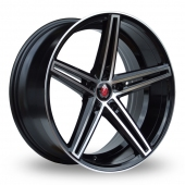 Image for Axe EX14_5x100_Wider_Rear Black_Polished Alloy Wheels