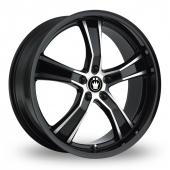 Konig Airstrike Wider Rear Black Polished Alloy Wheels