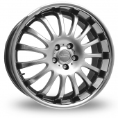 "22"" Team Dynamics Equinox II Hi-Power Silver Alloy Wheels"