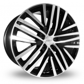 Image for Alkatec 22 Black_Polished Alloy Wheels