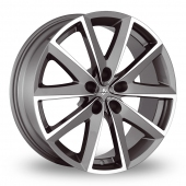 "18"" Fondmetal 7600 Titanium/Polished Alloy Wheels"