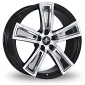 Image for Fondmetal Tech_6 Black_Polished_Mesh Alloy Wheels