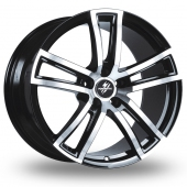 Image for Fondmetal Tech_6 Black_Polished Alloy Wheels