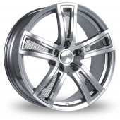 Image for Fondmetal Tech_6 Silver_Polished_Mesh Alloy Wheels