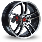 Lenso SC02 Black Polished Alloy Wheels