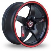 Image for Samurai D1-R Black_Red Alloy Wheels