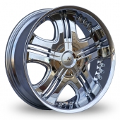 Image for Axe Kruz Chrome Alloy Wheels