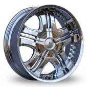 Image for Axe Kruz Chrome Alloy Wheels