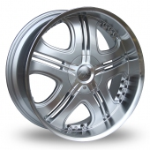 Image for Axe Cruz Silver Alloy Wheels
