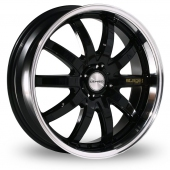 Lenso Stage 1 Black Alloy Wheels