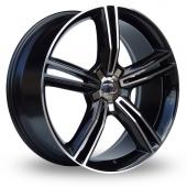 Lenso Opera Black Polished Alloy Wheels