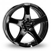 Image for Borbet F Black Alloy Wheels