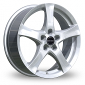 Image for Borbet F Silver Alloy Wheels