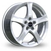 Borbet F Silver Alloy Wheels
