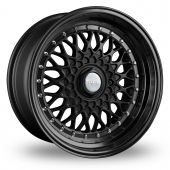 Dare DR-RS Matt Black Chrome Rivets Alloy Wheels
