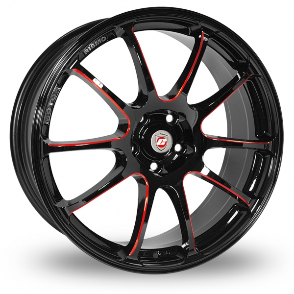 Picture of 18 Inch Calibre Friction Black Red Alloy Wheels