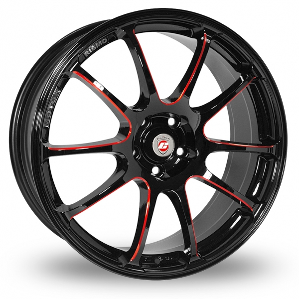 Picture of 19 Inch Calibre Friction Black Red Alloy Wheels