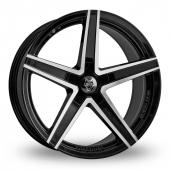 Wolf Design Wolf Design Entourage Black Polished Alloy Wheels