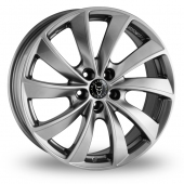 Rial Lugano Shadow Chrome Alloy Wheels