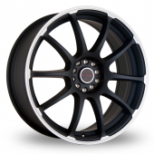 Dare Drift RZ Matt Black Alloy Wheels