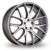Dare River NK 1 Gun Metal Polished Alloy Wheels