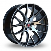 Axe CS Lite Black Polished Alloy Wheels
