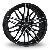 Alutec Burnside 5 Stud Black Polished Alloy Wheels