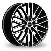 Borbet BS5 Black Polished Alloy Wheels