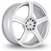 Image for BK_Racing 166 Silver Alloy Wheels