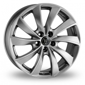 Wolfrace Lugano Shadow Chrome Alloy Wheels