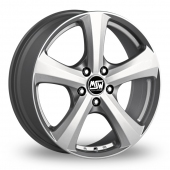 "16"" MSW 19 Silver Alloy Wheels"