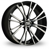 Image for MSW_(by_OZ) 20-4_Stud Black_Polished Alloy Wheels