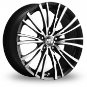 Image for MSW_(by_OZ) 20-5_Stud Black_Polished Alloy Wheels