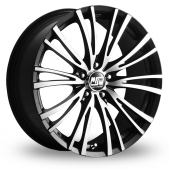 MSW (by OZ) 20-5 Stud Black Polished Alloy Wheels
