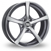 Image for MSW_(by_OZ) 23 Gun_Metal_Polished Alloy Wheels