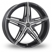 Image for OZ_Racing David Graphite_Polished Alloy Wheels