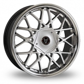 Wolfrace Blitz Shadow Chrome Alloy Wheels