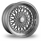 Dare DR-RS Silver Chrome Rivets Alloy Wheels