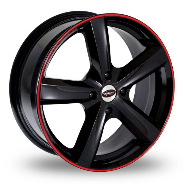 Black Alloy Wheels With Red Trim Code Red Alloy Wheels