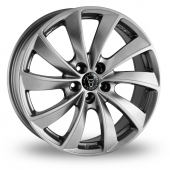 "18"" Wolfrace Lugano Shadow Chrome Alloy Wheels"
