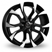 "18"" Wolfrace Assassin Black/Polished Alloy Wheels"