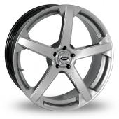 Team Dynamics Jade R Smooth Wider Rear Hi Power Silver Alloy Wheels