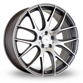 Image for ThreeSDM 0_01_5x120_Low_Wider_Rear Gun_Metal_Polished Alloy Wheels