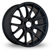 Dare River NK 1 5x120 Wider Rear Matt Black Alloy Wheels