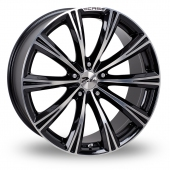 Image for Zito CRS_5x120_Wider_Rear Black_Polished Alloy Wheels