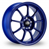 Image for OZ_Racing Alleggerita_HLT_5x114_Wider_Rear Blue Alloy Wheels
