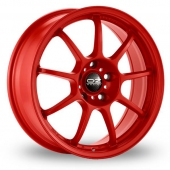 Image for OZ_Racing Alleggerita_HLT_5x114_Wider_Rear Red Alloy Wheels