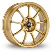 Image for OZ_Racing Alleggerita_HLT_5x112_Wider_Rear Gold Alloy Wheels